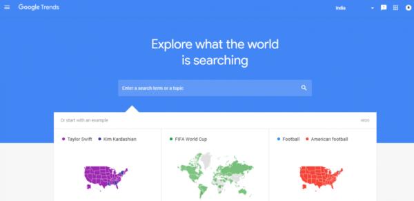 fonctionnalités de Google Trends