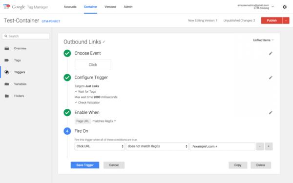 Les différentes possibilités qu'offre Google Tag Manager