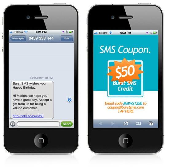 Envoyez des coupons et des remises avec le coupon SMS